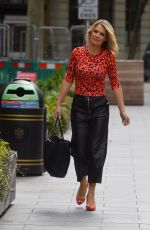 CHARLOTTE HAWKINS Arrives at Global Radio in London 06/19/2020