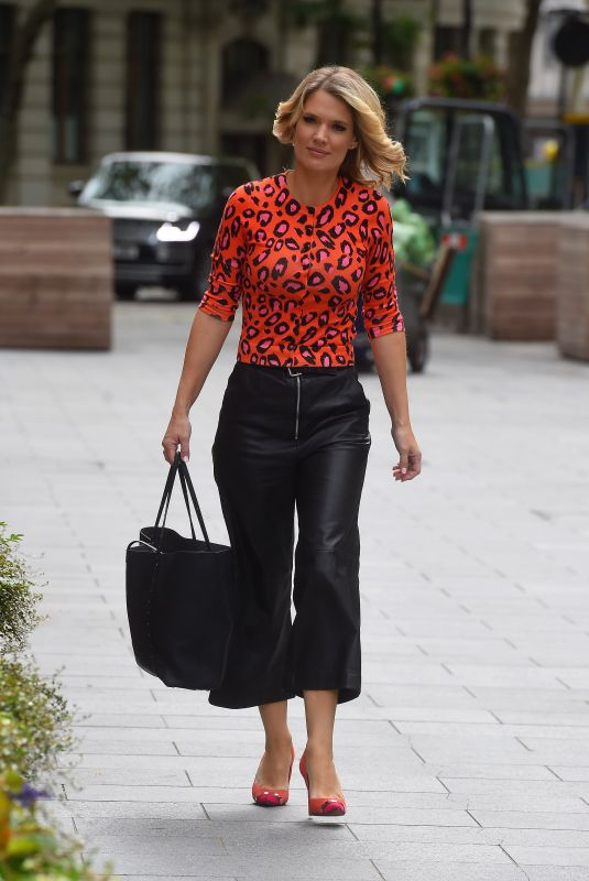 CHARLOTTE HAWKINS Arrives at Global Radio in London 06/19/2020