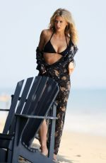 CHARLOTTE MCKINNEY in Bikinia at a Photoshoot on the Beach in Los Angeles 06/22/2020