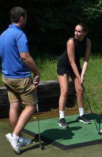 CHLOE ROSS Learning to Play Golf at Romford Golf Club in Essex 06/29/2020