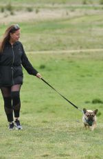 CHLOE ROSS Out with her Dog in Chigwell 06/06/2020