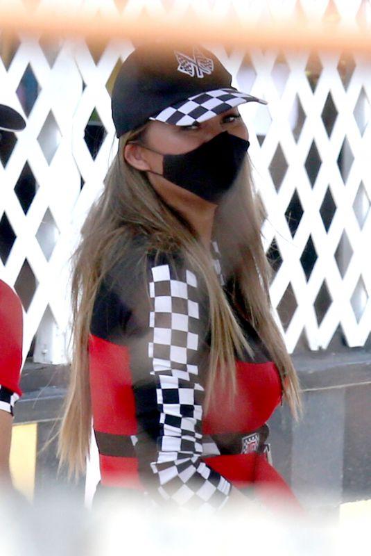 CHRISSY TEIGEN at Go Kart World in Carson 06/2682020