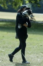 CHRISTINA LAMPARD Out with her Dog at a Park in London 06/09/2020