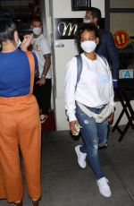 CHRISTINA MILIAN Wearing a Mask at Madeo Restaurant in Beverly Hills 06/17/2020