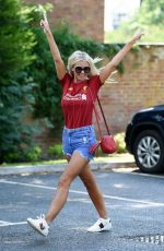 CHRISTINE MCGUINNESS in Denim SHorts Out in Cheshire 06/26/2020