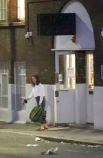 CLAIRE FOY Leaves Old Vic Theatre in London 06/27/2020