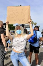 COURTNEY STODDEN at a Protest in Los Angeles 06/01/2020