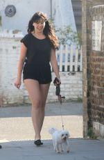 DAISY LOWE Out with Her Dog in London 06/02/2020