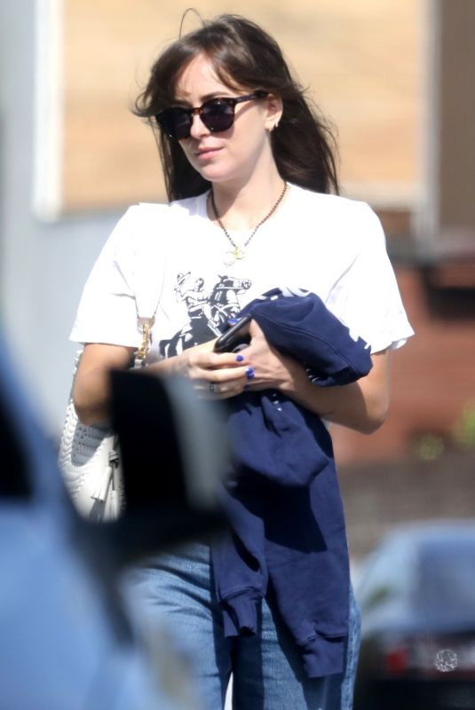 DAKOTA JOHNSON Out and About in Los Angeles 06/19/2020