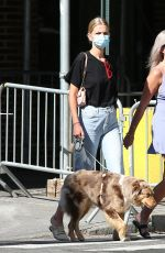 DAPHNE GROENEVELD Out with Her Dog in New York 06/24/2020