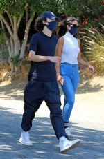 EIZA GONZALEZ and Timothee Chalamet Out Hiking in Los Angeles 06/28/2020