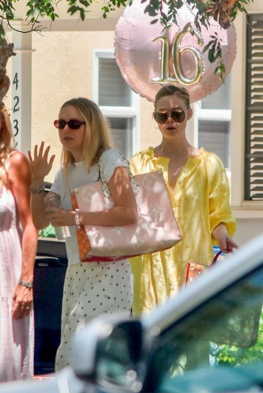 ELLE and DAKOTA FANNING at a Birthday Party in Studio City 06/15/2020