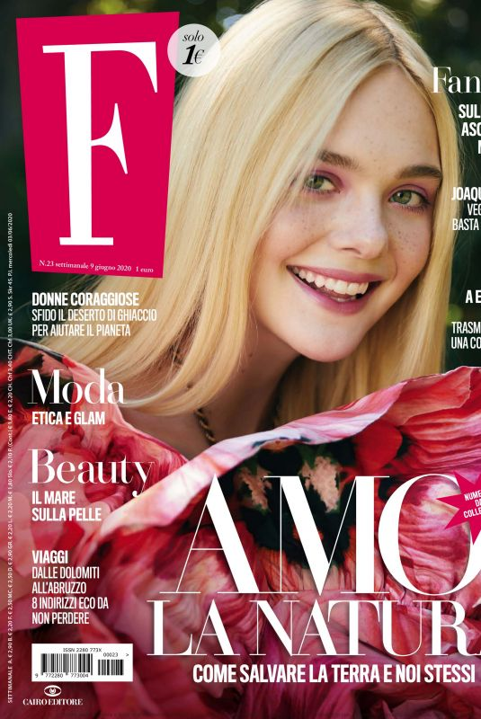ELLE FANNING in F Magazine, June 2020