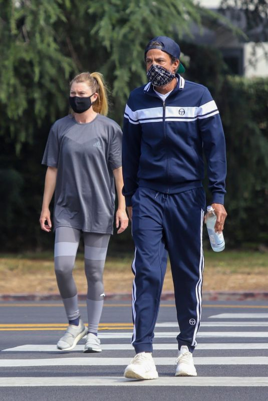 ELLEN POMPEO and Chris Ivery Out Hiking at Griffith Park in Los Feliz 06/23/2020