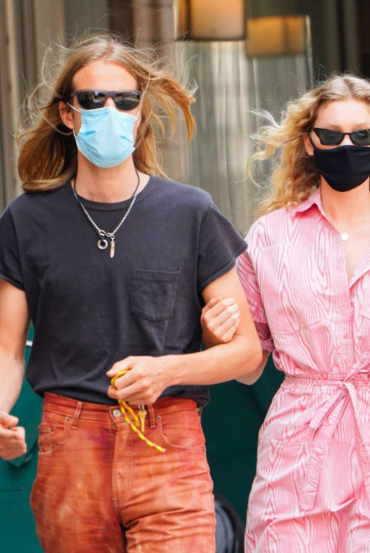 ELSA HOSK and Tom Daly Wearing Masks Out in New York 06/10/2020