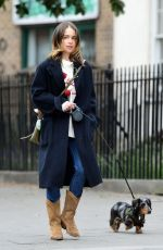 EMILIA CLARKE Out with Her Dog in London 06/06/2020