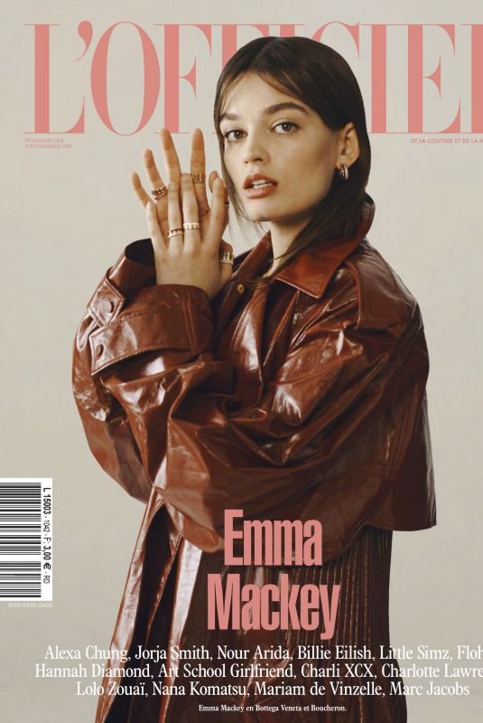 EMMA MACKEY L'Officiel Paris, March 2020