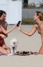 FRANCESCA FARAGO, HALEY CURETON and MADISON WYBORNY from Too Hot to Handle in Bikinis at a Beach in Los Angeles 06/26/2020