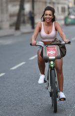 GEORGIA STEEL and ELMA PAZAR in Daisy Dukes Out Riding Bikes in London 05/31/2020