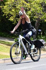 GOLDIE HAWN Out Riding a Bike in Brentwood 06/17/2020