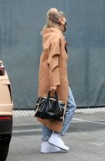 HAILEY BIEBER Arrives at a Studio in Studio City 06/29/2020