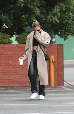 HAILEY BIEBER at Blue Bottle Cafe in Beverly Hills 06/28/2020
