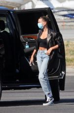 HAILEY BIEBER at Van Nuys Airport in Los Angeles 06/27/2020