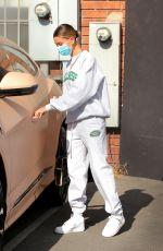 HAILEY BIEBER Leaves Beachwood Studios in West Hollywood 06/29/2020