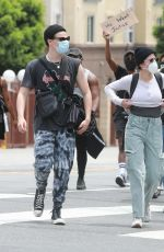 HALSEY and Yungblud at Black Lives Matter Protest in Los Angeles 06/02/2020
