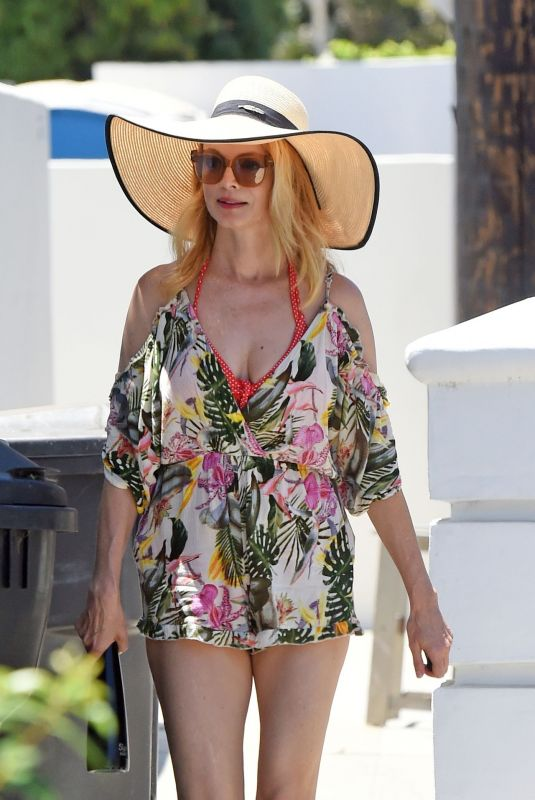 HEATHER GRAHAM Heading to a Beach in Malibu 06/11/2020