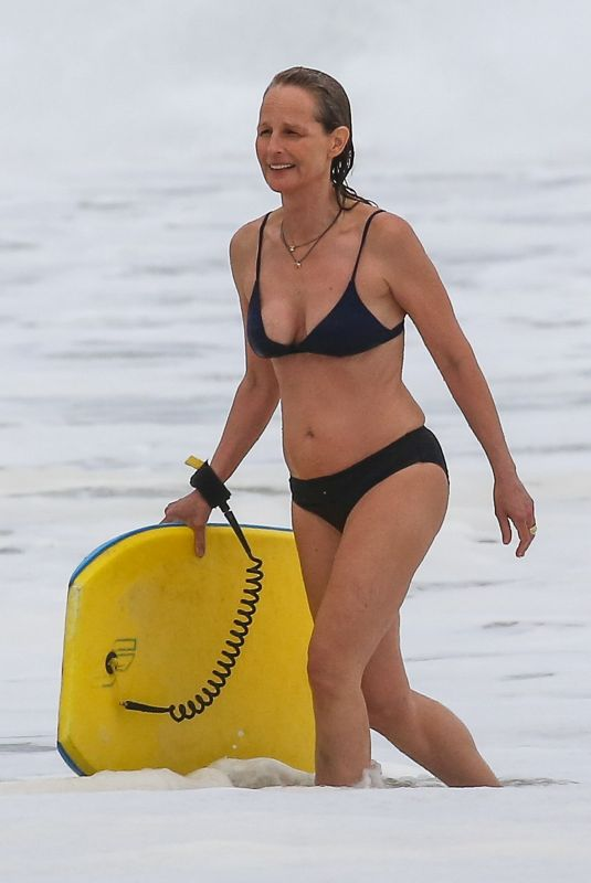 HELEN HUNT in Bikini at a Beach in Malibu 06/07/2020