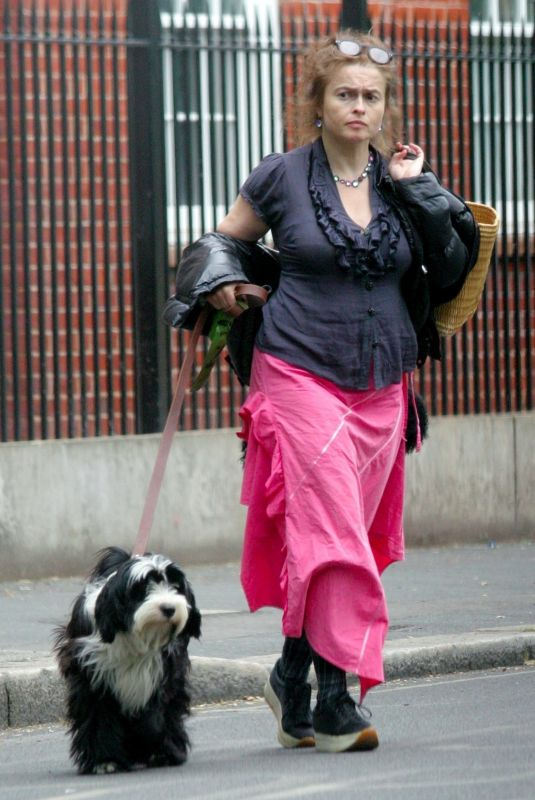 HELENA BONHAM CARTER Out with Her Dog in London 06/08/2020