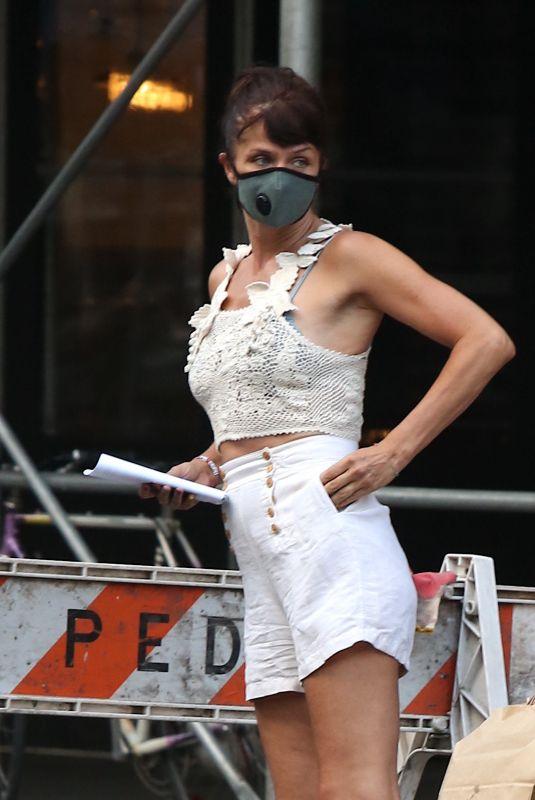 HELENA CHRISTENSEN at a Fedex Store in New York 06/26/2020
