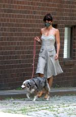 HELENA CHRISTENSEN Out with Her Dog in New York 06/14/2020
