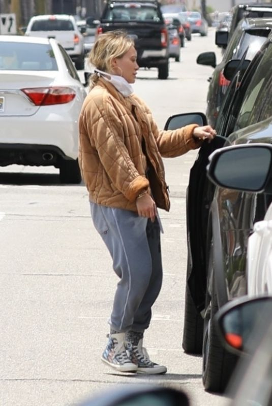 HILARY DUFF Out in Los Angeles 06/18/2020