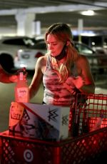 HILARY DUFF Shopping at Target in Los Angeles 06/21/2020