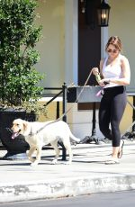 HUNTER HALEY KING Out with Her Dog in Los Angeles 06/11/2020