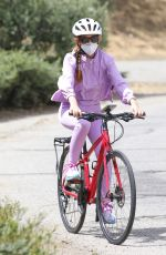 ISLA FISHER on Her Daily Bike Routine in Los Angeles 06/29/2020