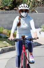 ISLA FISHER Out Riding a Bike in Los Angeles 06/13/2020