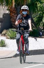 ISLA FISHER Riding Ber Bike Out in Los Angeles 06/07/2020