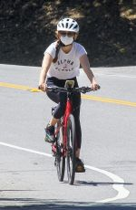 ISLA FISHER Riding Her Bike Out in Los Angeles 06/08/2020