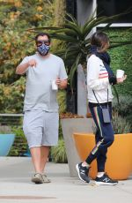 JACKIE and Adam SANDLER Out for Coffee in Malibu 06/16/2020