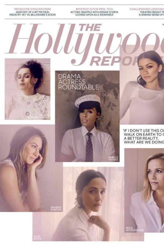 JENNIFER ANISTON, HELENA BONHAM CARTER, ZENDAYA and REESE WITHERSPOON in The Hollywood Reporter, June 2020