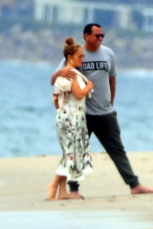 JENNIFER LOPEZ and Alex Rodriguez at a Beach in Malibu 06/21/2020