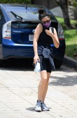 JESSICA GOMES Hiking at Runyon Canyon in Los Angeles 06/25/2020