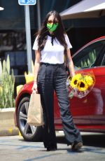 JESSICA GOMES Out Buying Flowers in Los Angeles 06/29/2020