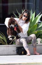JORDANA BREWSTER Out with Her Dog in Brentwood 06/17/2020