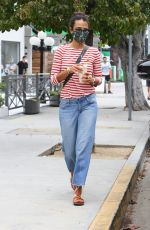 JORDANA BREWSTER Out with Her Dog in Brentwood 06/25/2020