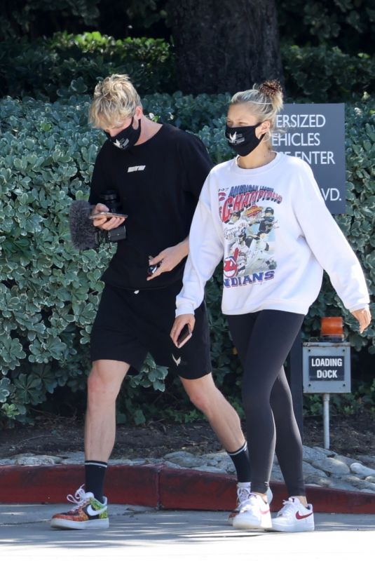 JOSIE CANSECO and Logan Paul Out in Encino 06/25/2020