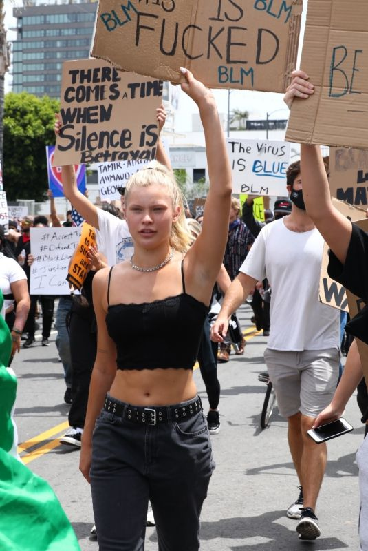 JOSIE CANSECO at Black Lives Matter Protest in Los Angeles 06/02/2020